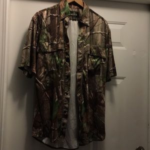 Men's medium Redhead mossy oak collared shirt
